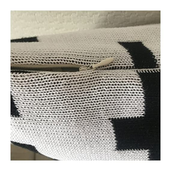 CottonTex Cotton Knitted Decorative Cushion Cover(17.5x17.5) + Pillow(19.5x19.5) Zipper Design Cable Knitting Pattern Super Soft Square Warm Pillow Covers, Coffee, Cover + Pillow - Pure cotton, natural material, soft hand feeling and good warm touch Cover is 17.5 by 17.5 inch (45*45cm). Matching pillow shall be 20 by 20 inch (50*50cm) since knitted cotton cover is of high elastic Zipper closure - living-room-soft-furnishings, living-room, decorative-pillows - 61lVlQ3MBLL. SS570  -