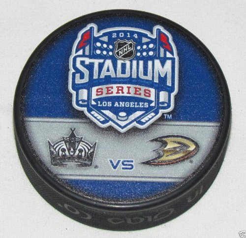 2014 Stadium Series Dueling NHL Souvenir Puck - Ducks vs. Kings Sher-Wood