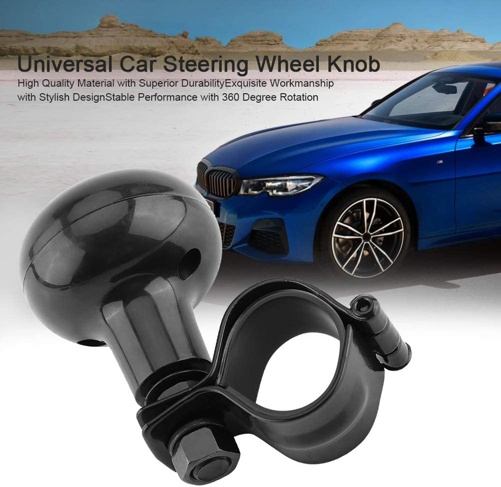 ypersonic Vehicle Black Power Steering Handle Knob Car Vintage Wheel Spinner Ball