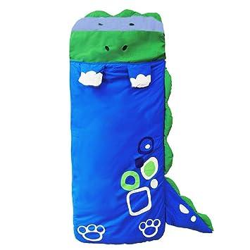 DINGANG® Grandes Dibujos Animados los niños Los niños y Las niñas Bolsa de Saco de Dormir, Dormir con Almohada, 140 cm * 60 cm Azul Azul: Amazon.es: Hogar