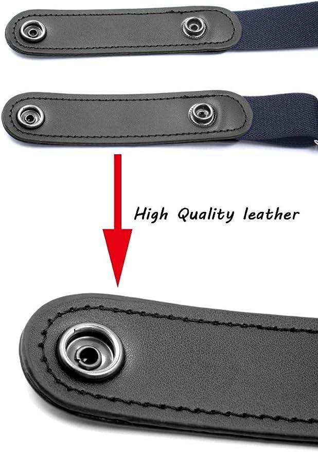 Hocaies Sin Hebilla Cintur/ón Cintur/ón El/ástico Invisible Unisex El/ástico Cintur/ón Ajustable de para El tama/ño de la cintura de cualquier persona