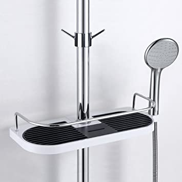 Fontic Edelstahl Duschablage Badezimmerablage Dusche Rack Korb, ohne ...