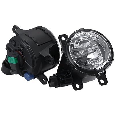 Fog Lights with H11 Clear Bulbs for 2011-2015 Acura Honda TSX RDX TL CR-V Pilot: Automotive