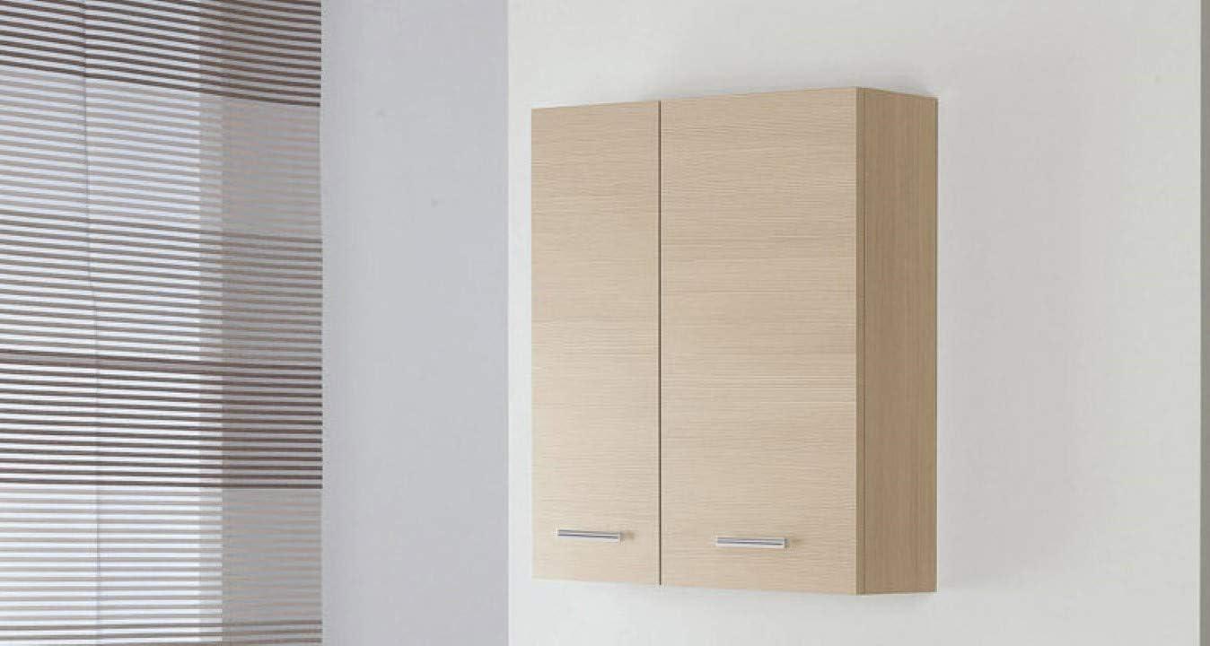 Bianco FERIDRAS Stella Pensile Doppio 2 Ante 18x60x70 cm