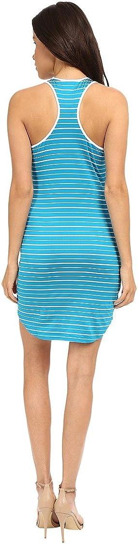 Susana Monaco Womens Dress White Striped Racerback Sheath Blue XL