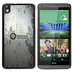 CASER CASES / HTC DESIRE 816 / Aperture Science Innovators / Delgado Negro Plástico caso cubierta Shell Armor Funda Case Cover
