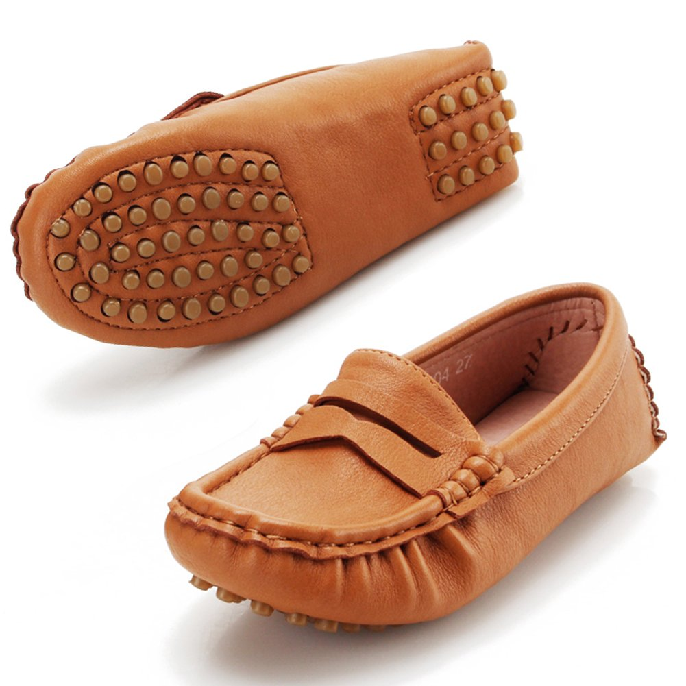 Earsoon Kids Shoes Boys Loafers Dress - 2018 Shoes Boys Girls Shoes Boat Shoes Super Soft Mircro-Fbier Leather