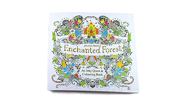 Amazon Upupo New An Inky Enchanted Forest Treasure Hunt Coloring BookColoring Books Adults Kids Relaxation Toys Games
