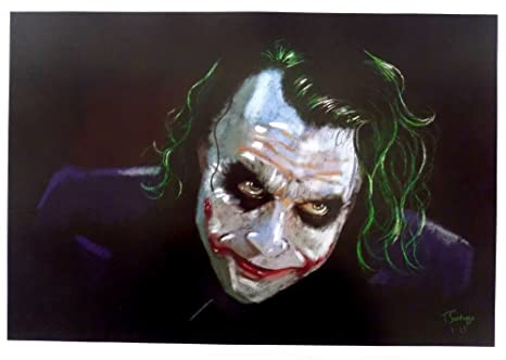 The Dark Night Heath Ledger The Joker 13x19 Lithograph At