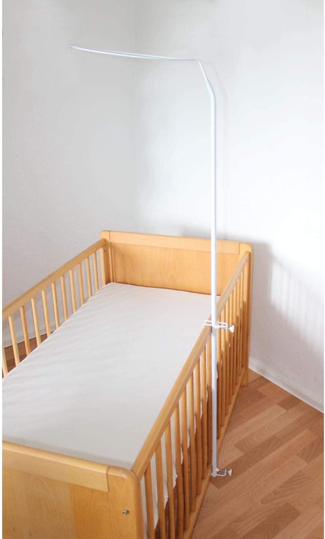 150 cm Gr/ö/ße: ca TupTam Universale Himmelstange Babybett Himmelhalter Farbe: Wei/ß