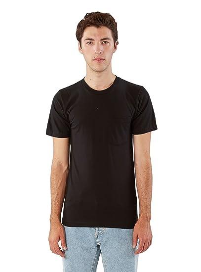 American Apparel Men Fine Jersey Crewneck Pocket T-Shirt Size S Black