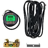 QWORK Battery Monitor Voltmeter Ammeter, Voltage Range 8V-80V and up to 500A, Voltage Current Meter with 13 ft Custom Cable