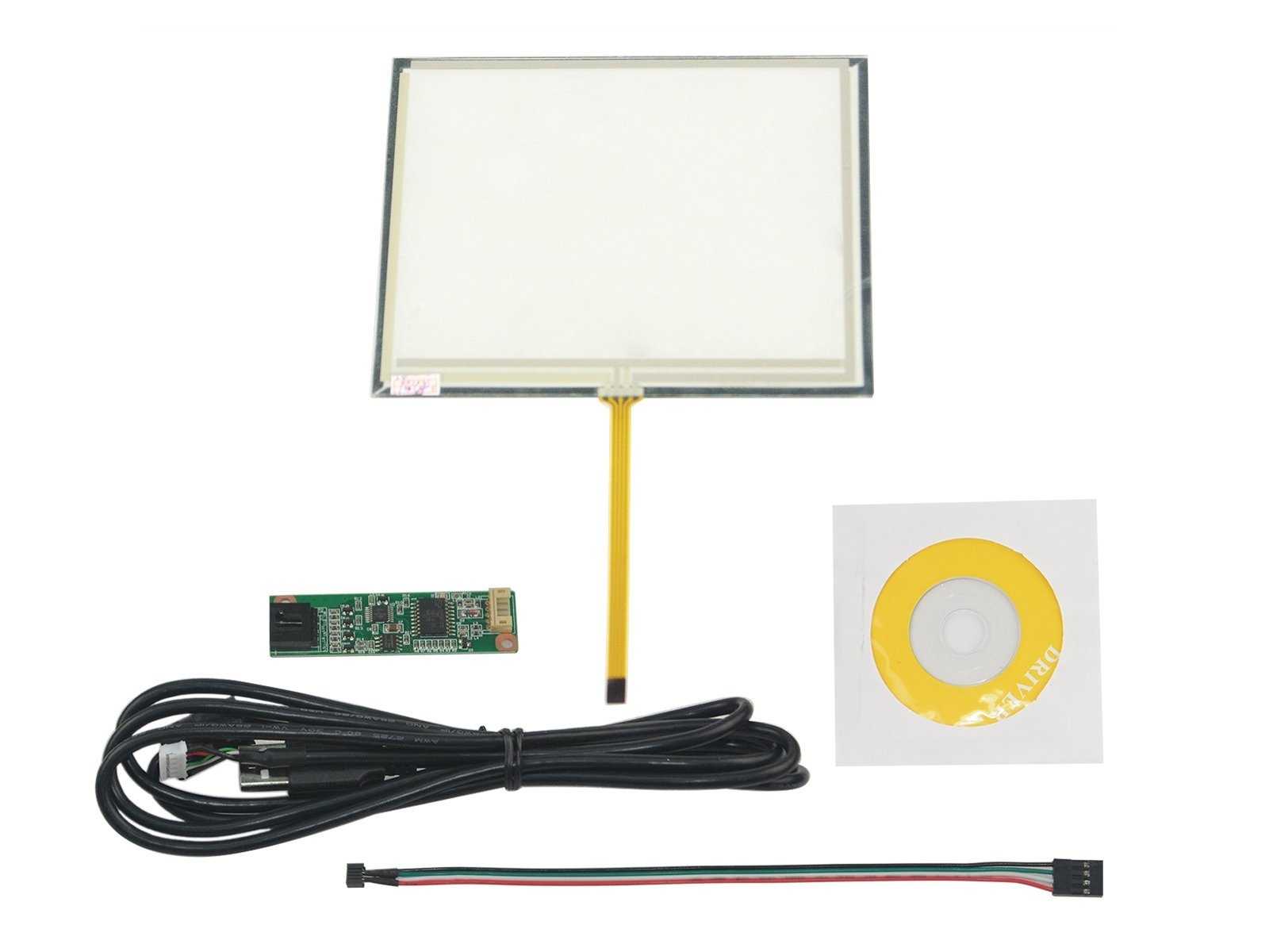 NJYTouch 5.6inch 4 Wire Resistive Touch Panel Digitizer 126x100mm For 5.6 inch AT056TN52 AT056TN53 LCD Screen With 4 Wire USB Driver Controller Kit by NJYTouch (Image #1)