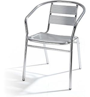 Sedie In Alluminio Per Bar Usate.San Marco Smdc101x6 6 Sedie Alluminio Impilabili Per Bar Da