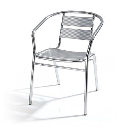 Amazon Sedie Da Giardino In Alluminio.Verdelook Alumine Sedia Da Giardino In Alluminio Dimensioni 54x59x74 Cm Per Arredo Esterni