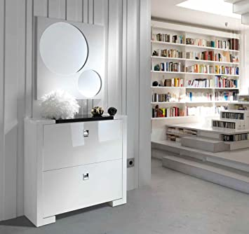 Ch Design Muebles Zapateros Modernos Matrix D Blanco Amazon Es