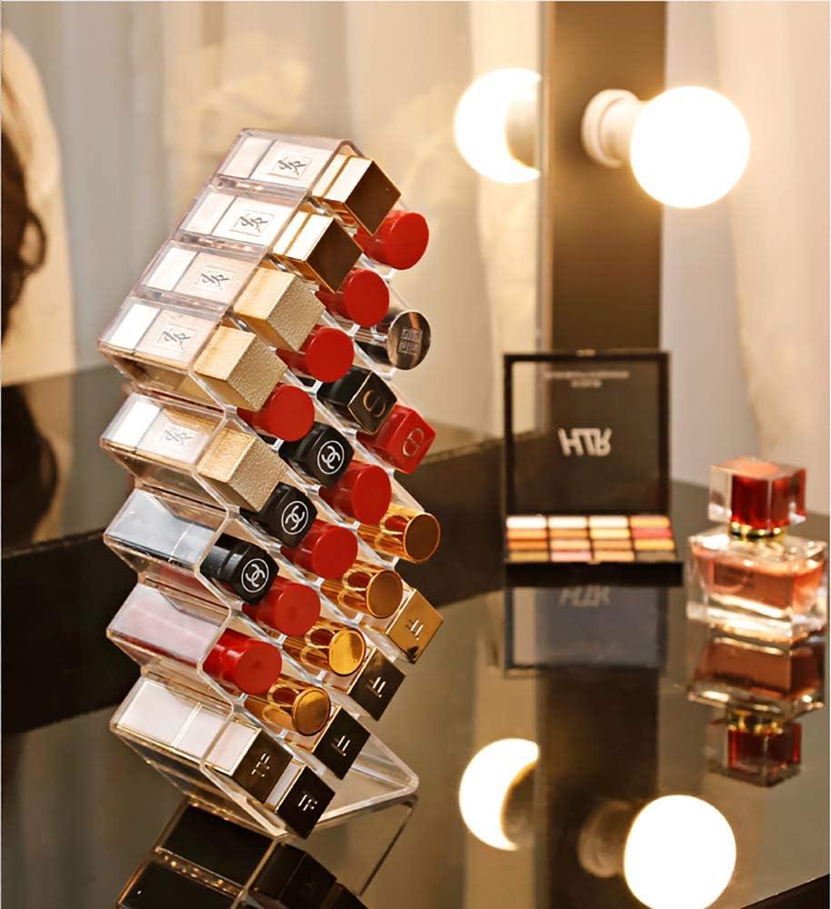 V-HANVER Pr/ésentoir Organiser Pr/ésentoir de Rouge /à L/èvres /à 28 Compartiments en Acrylique Transparent Maquillage Organisateur Cosm/étique
