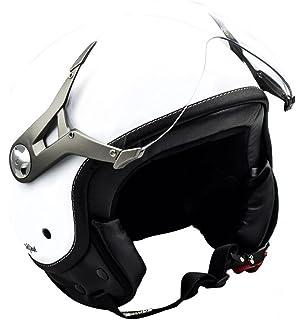 "SOXON/® Visor /""ST-666/"" /· Helm-Visier /· Motorrad-Helm Roller-Helm Jet-Helm Visiere Ersatz-Visier Zubeh/ör Klapp-Helm /· CLEAR DARK CHROME RAINBOW"