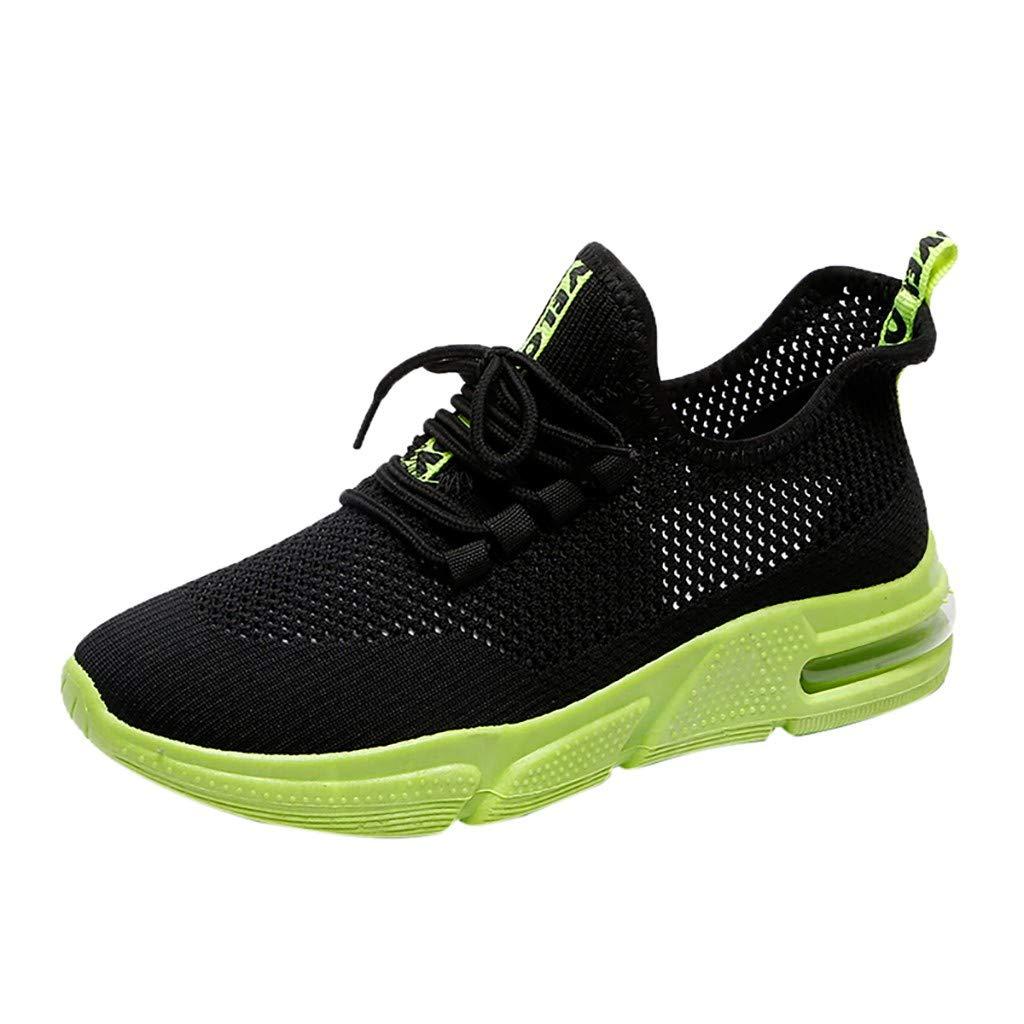Saihui Sneakers Damen Netz Gym Atmungsaktiv Schuhe Strick Laufschuhe Trainer Sneake Sportschuhe Rutschfeste Straßenlaufschuhe