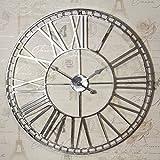 Large Nickel Wall Clock
