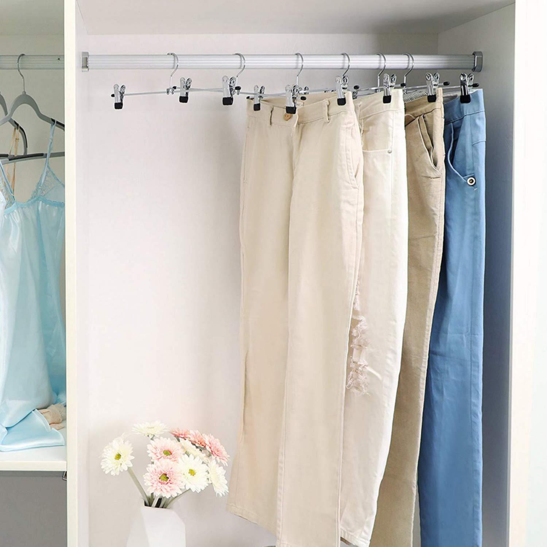 S Tipo Pantalones de la suspensi/ón Estante Multi-funcional Colgante Rack de la ropa Almac/én de varios pisos Almacenaje Ideas de la manera 2packs Silver 3 XIAO MO GU