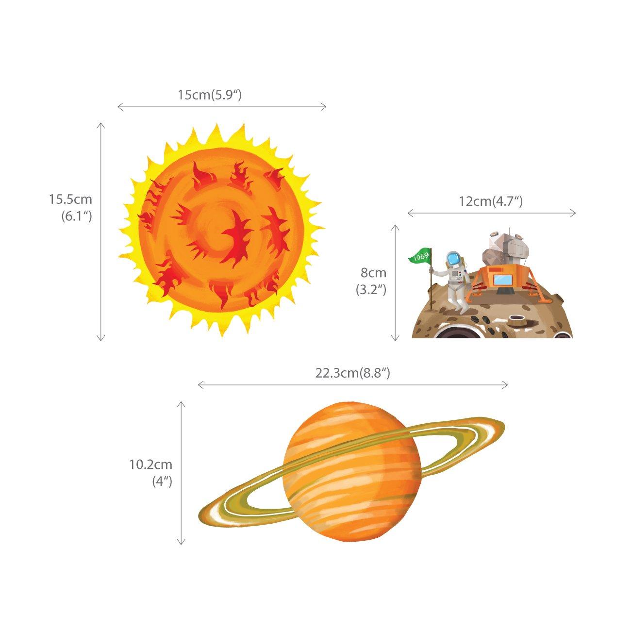 Decowall DA-1501 Sonnensystem Planeten Platz Weltraum Gro/ß/_1501