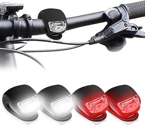Luz trasera de bicicleta – Juego de 4 luces LED para bicicleta de ...