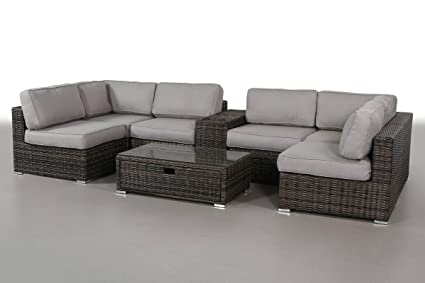 Fine Living Source International 8 Piece Sectional Set Patio Sofa Couch Garden Backyard Porch Or Pool All Weather Wicker With Thick Cushions Cm 4271 Alphanode Cool Chair Designs And Ideas Alphanodeonline