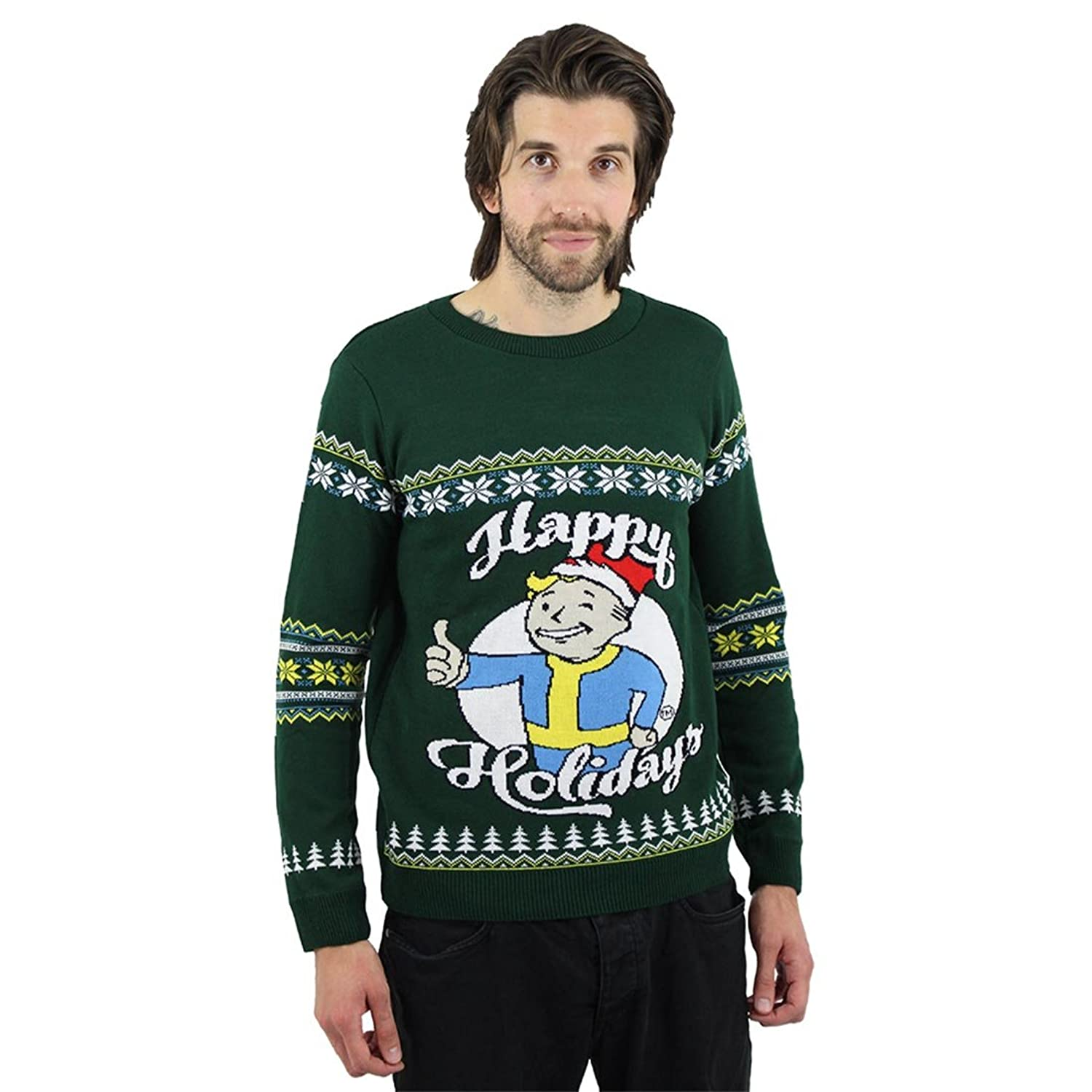 Bethesda Fallout Official Happy Holidays Ugly Christmas Sweater at ...