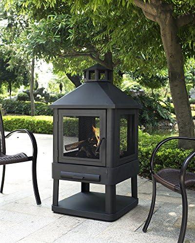 Crosley Furniture Monticello Enclosed Outdoor Fire Pit Black Amazon Ca Patio Lawn Garden