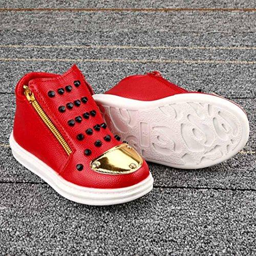Hunpta Kinder Mode Jungen Mädchen Sneaker Winter Dicken Schnee Baby Freizeitschuhe Rot 2