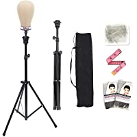 Lihui Wig Stand Tripod Mannequin Head Stand Metal Wig Head Stand Holder Adjustable Tripod…