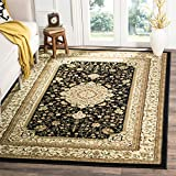 Safavieh Lyndhurst Collection LNH213A Traditional Oriental Medallion Black and Ivory Area Rug (8′ x 11′)