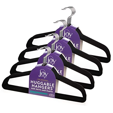 Amazon.com: Joy Mangano - Perchas de fieltro de 40 hilos ...