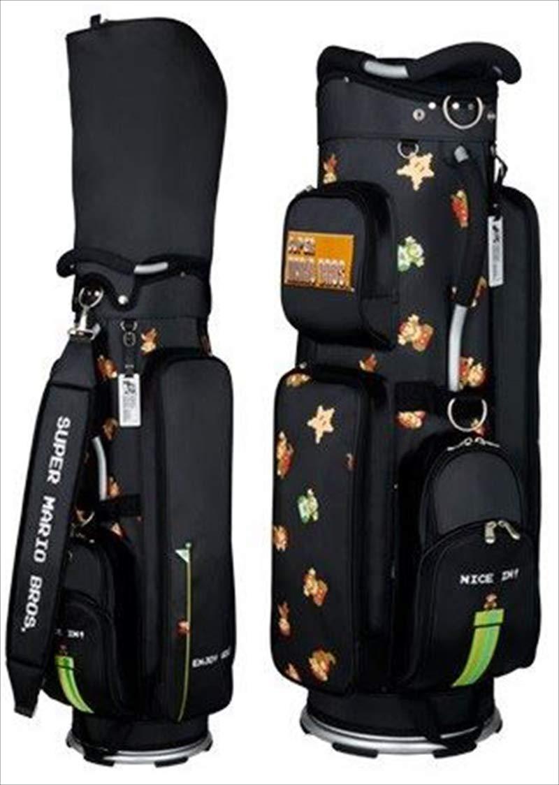 Enjoy Caddie Bag(エンジョイキャディーバッグ) キャディーバッグ SMCB002B スーパーマリオブラザーズキャディバッグ(軽量タイプ)(黒) SMCB002B ブラック 付属品:アクリルネームプレート 2点式ショルダーベルト。