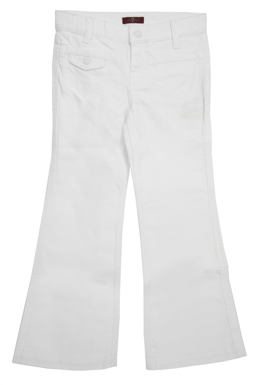 7 For All Mankind Little Girls' Georgia Jean, Clean White, 6