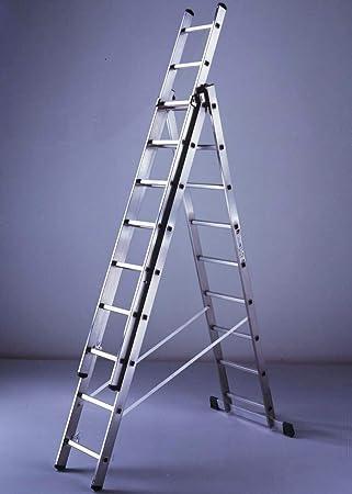 Escalera de aluminio mt.314 3x11 gr-706: Amazon.es: Bricolaje y herramientas