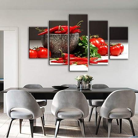 HOMEDCR Cartel Mural 5 Panel Tema De Cocina Lienzo ...