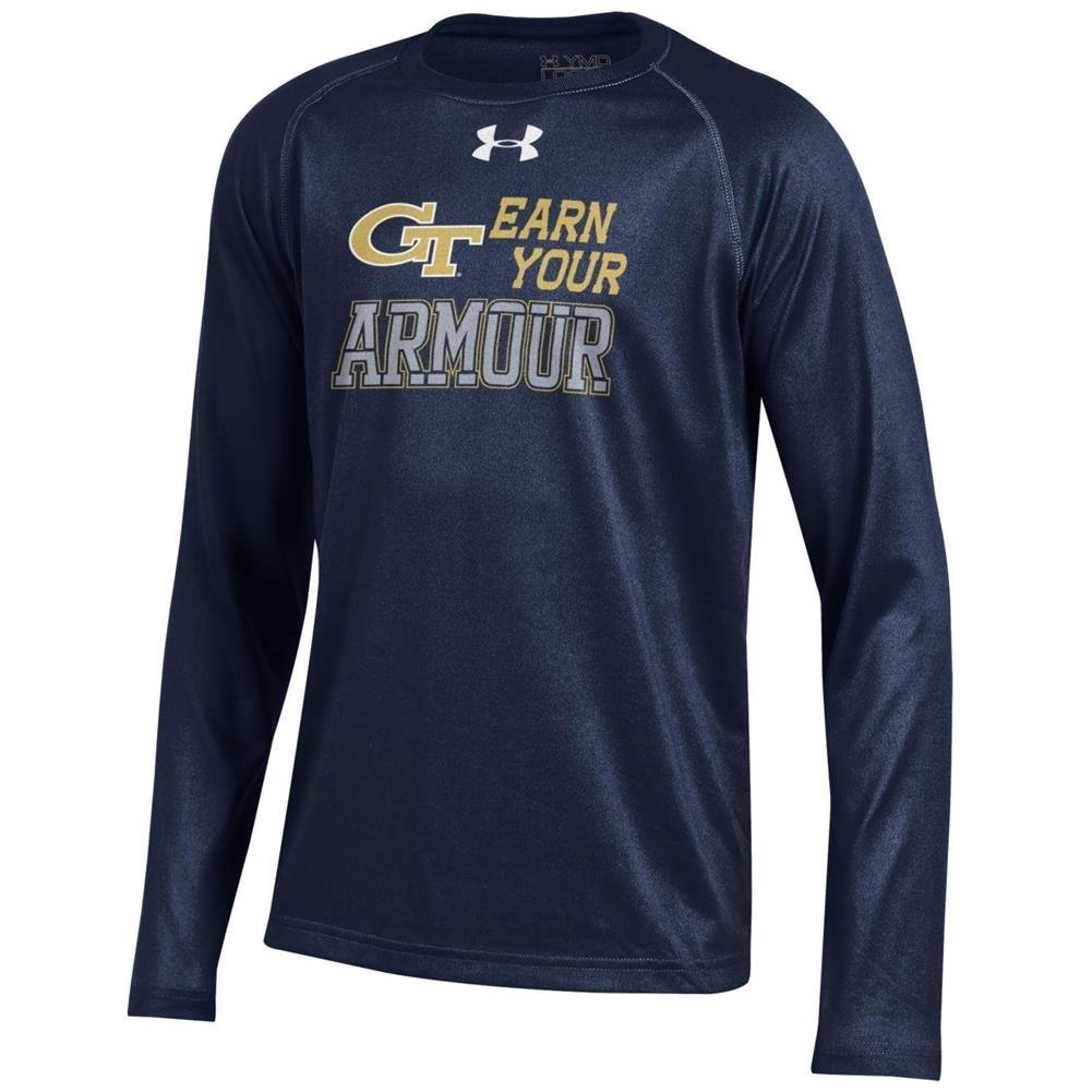 【特価】 ユースunder armour Georgia Tech GT B01FTC743Y Tech Georgia Long Sleeve Tee Tee YTH (6-7) B01FTC743Y, 新冠郡:796acb76 --- a0267596.xsph.ru