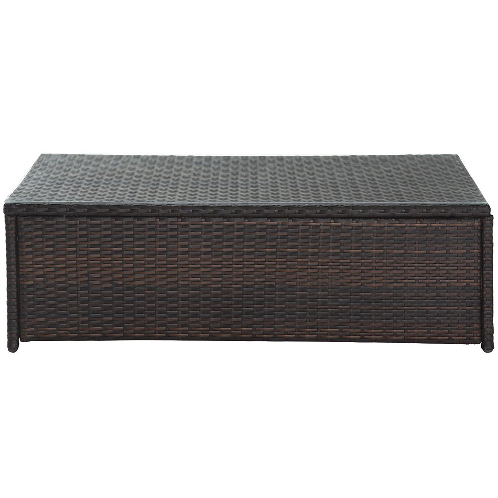Amazon.com: Crosley Furniture Palm Harbor Outdoor Wicker Glass Top Table:  Kitchen U0026 Dining