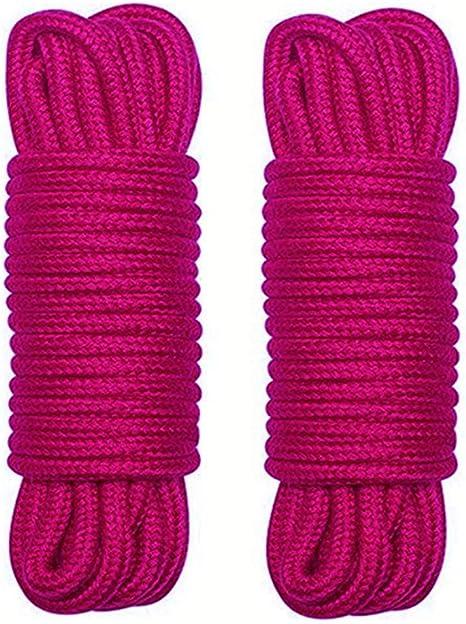 2Pcs 10 M 33 Pieds 8 MM Corde Artisanale Corde Corde de Fil de Coton /épais 3Noir WYMAODAN Corde en Coton Doux