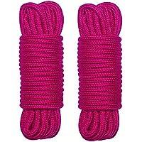 WYMAODAN Cuerda de algodón Suave, Dos Cuerdas Multiusos de 10 M / 8 MM, Cuerda Artesanal, Hilo de algodón Grueso (Rosa…