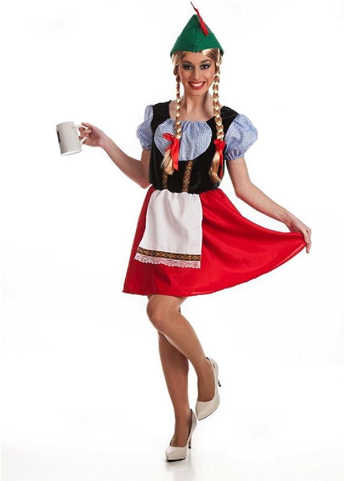 Disfraz de Tirolesa para mujer: Amazon.es: Juguetes y juegos