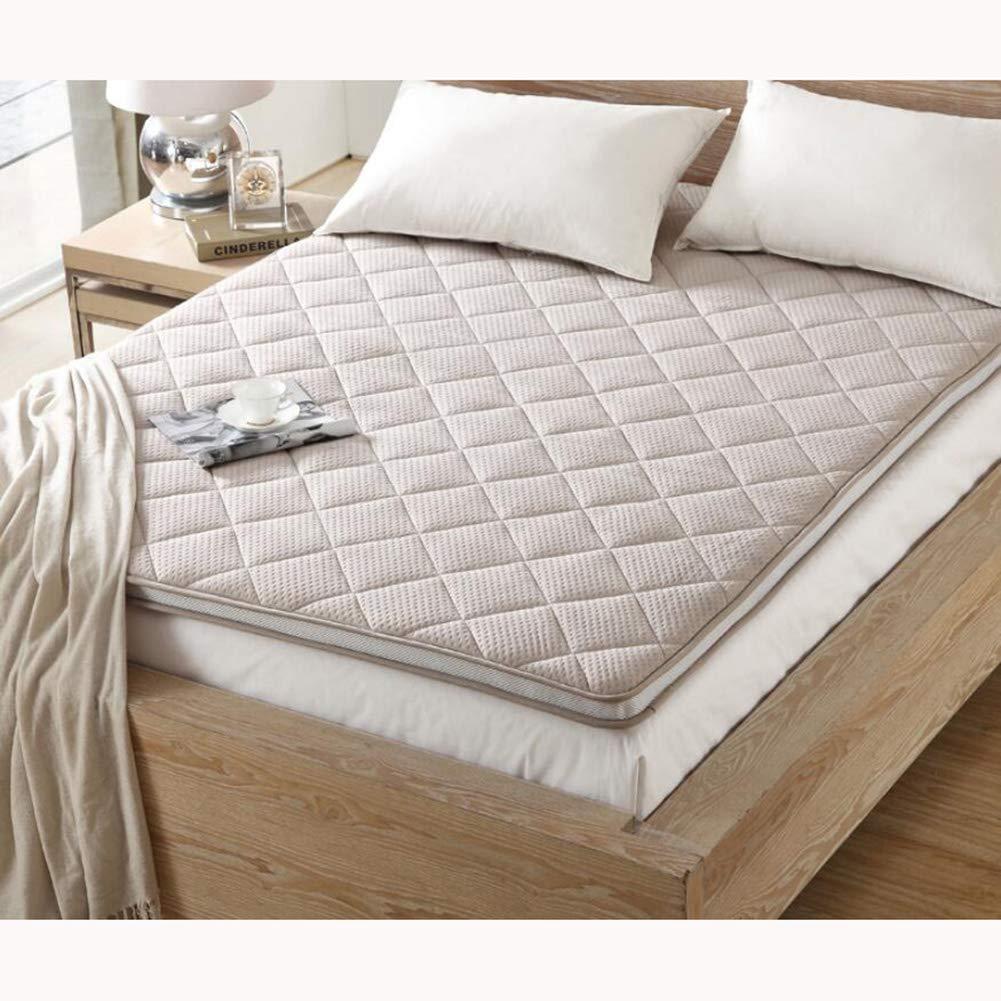 Love Home Tatami Matratzenauflage, Bambuskohle, japanische Faltbare Vierjahreszeiten Studenten-Doppel-Bodenmatte Schlafmatte, Polyester, braun, 180x200cm(71x79inch)