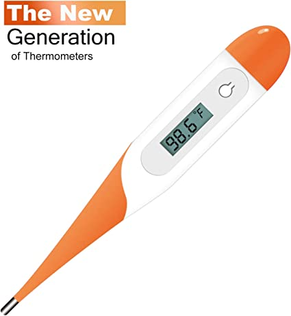 Digital Medical Thermometer Kids Adults Pets Armpit Oral LCD Screen Waterproof