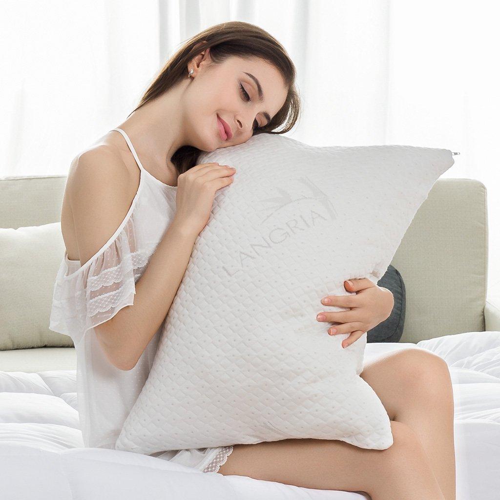 $19 竹纤维防过敏记忆棉枕头 带抗菌拉链枕套 (30% off)