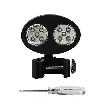 LouiseEvel215 Ajustable 10 LED Barbacoa Parrilla Luz de ...