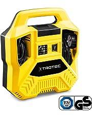 TROTEC Compressore PCPS 10-1100,1100 W, Quantità d'aria erogata 180 l/min, Pressione massima 8 bar, Compressore Aria Portatile Auto, Camion, Bici, Materasso ad Aria ecc