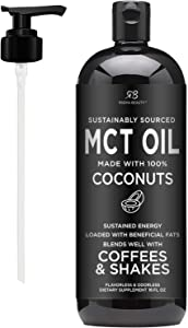 Premium MCT Oil Made only from Non-GMO Coconuts - 16oz. Keto, Paleo, Gluten Free and Vegan Approved.