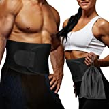 Waist Trimmer Belt for Weight Loss with Carrying Bag, Waist Trainer - Adjustable Fat Burner Waist Slimming Belt Ab Sauna Belt for Women and Men Belly Abdominal Training Sweat Belt Gym Support